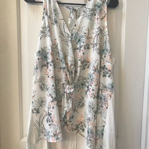 Maurice's Silky Floral Blouse 3X